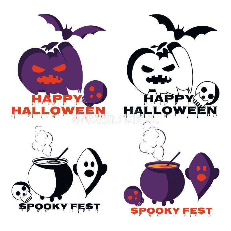 Счастливый вектор иллюстрации шаржа символа хеллоуина стоковое фото
