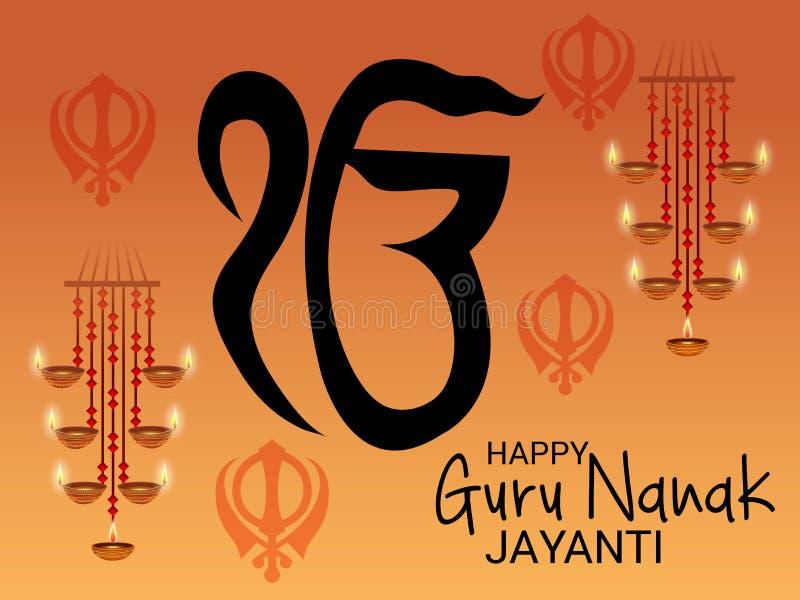 Счастливый гуру Nanak Jayanti бесплатная иллюстрация