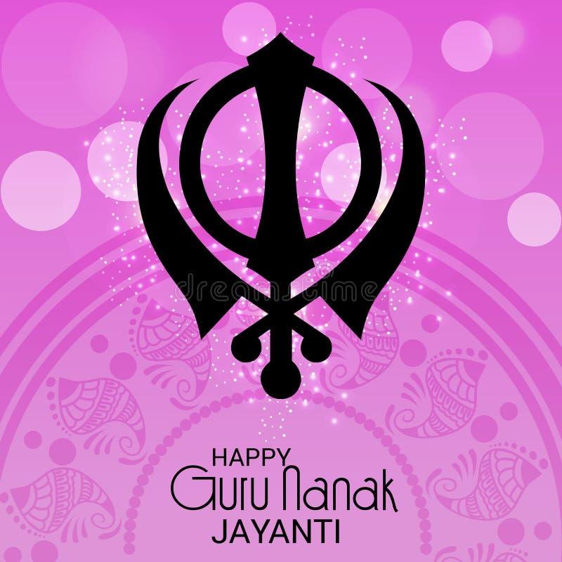 Счастливый гуру Nanak Jayanti иллюстрация штока