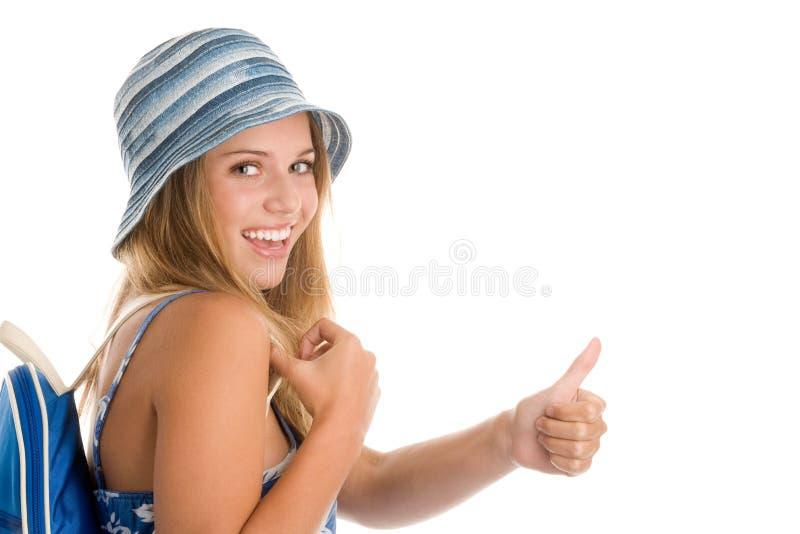 Счастливый девочка-подросток стоковое фото