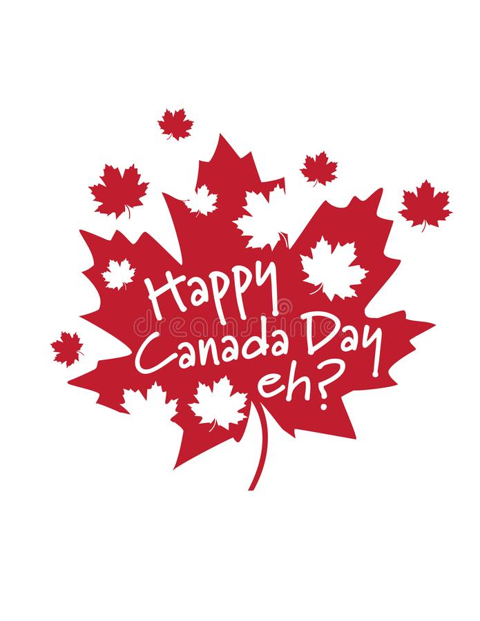 Счастливый день Канады, eh? стоковое фото rf