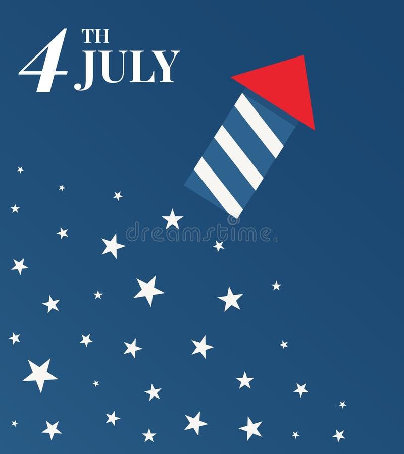 Счастливый День независимости иллюстрация вектора