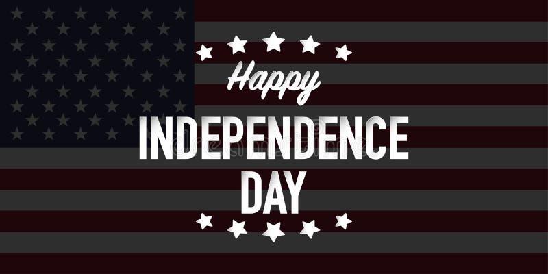Счастливый День независимости четвертое вектора в июле иллюстрация вектора