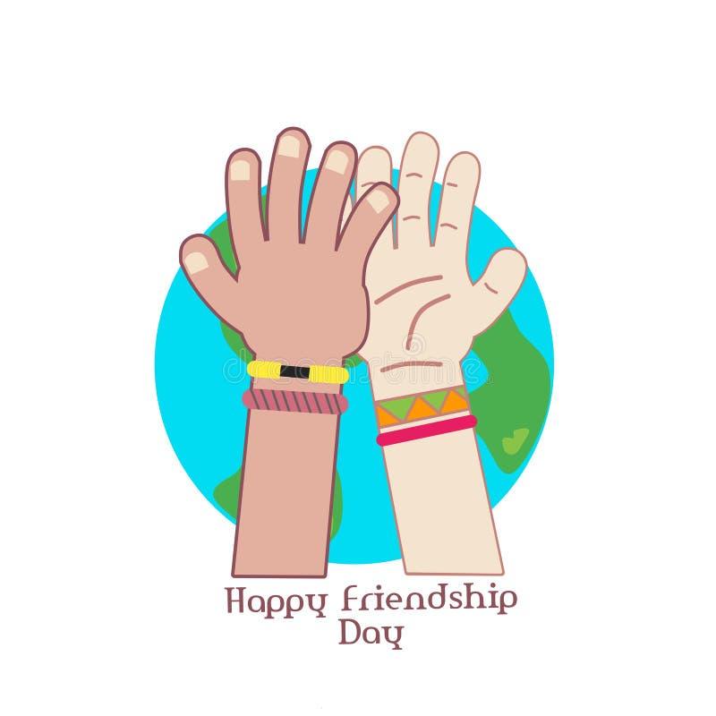 Счастливый день приятельства иллюстрация вектора