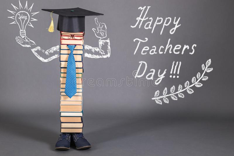 Счастливый день учителей стоковая фотография rf