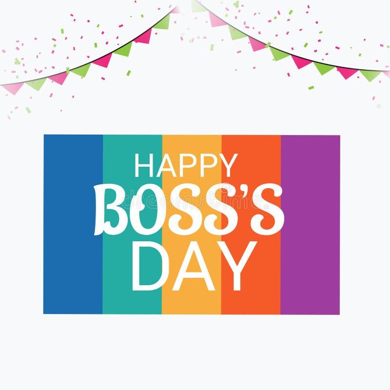 Счастливый день ` s босса иллюстрация вектора