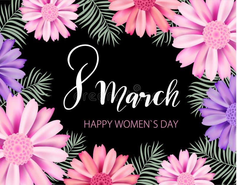Счастливый день ` s женщин бесплатная иллюстрация