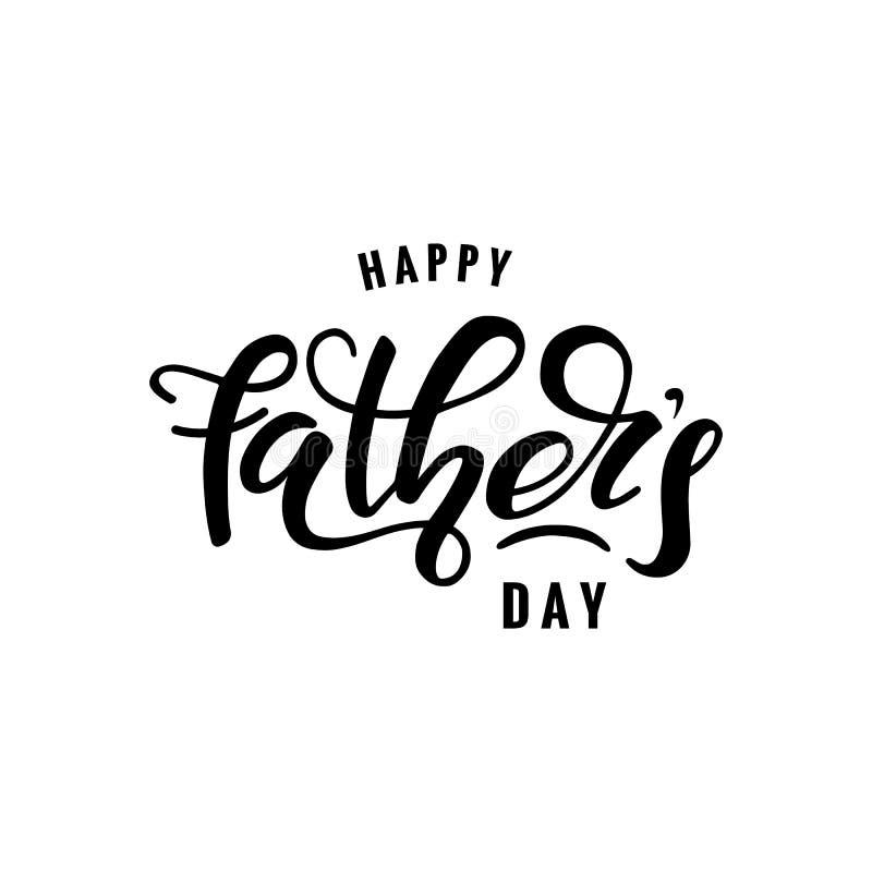 Счастливый день ` s отца иллюстрация штока