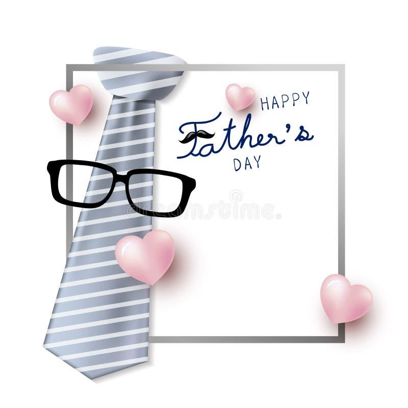 Счастливый дизайн концепции дня ` s отца иллюстрация штока