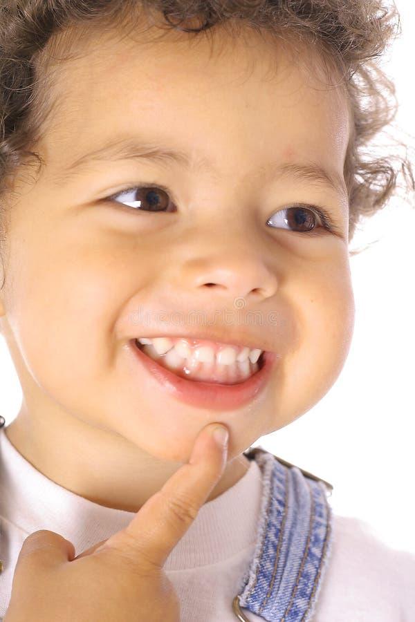 счастливый думая малыш стоковые изображения rf