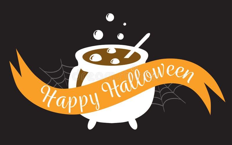 Счастливый знак логотипа хеллоуина бесплатная иллюстрация
