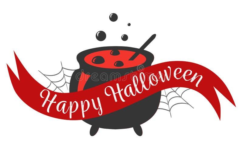 Счастливый знак логотипа хеллоуина иллюстрация штока