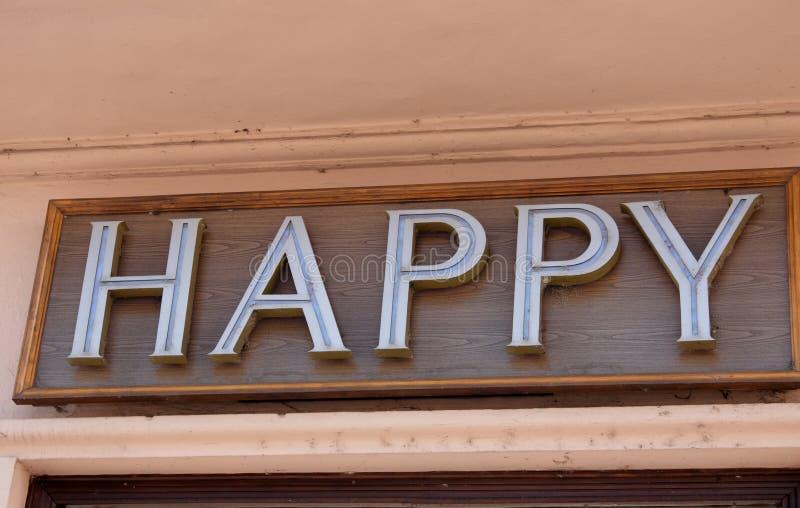 Счастливый знак стоковое фото rf