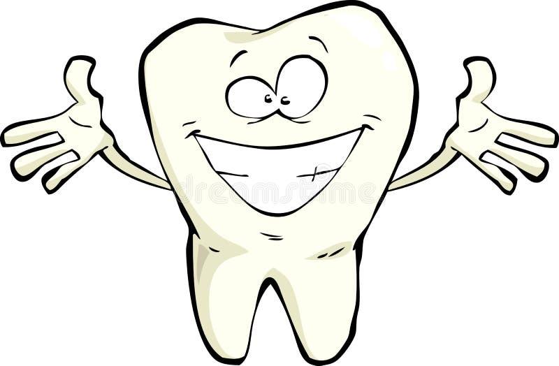 Счастливый зуб иллюстрация вектора