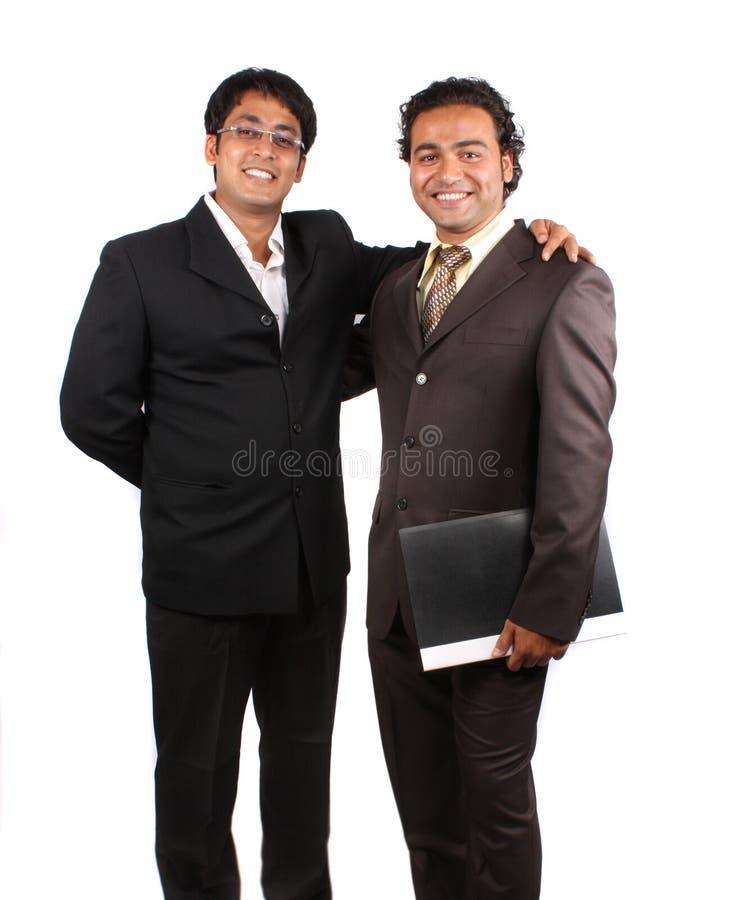 Счастливый индийский бизнесмен стоковые фотографии rf