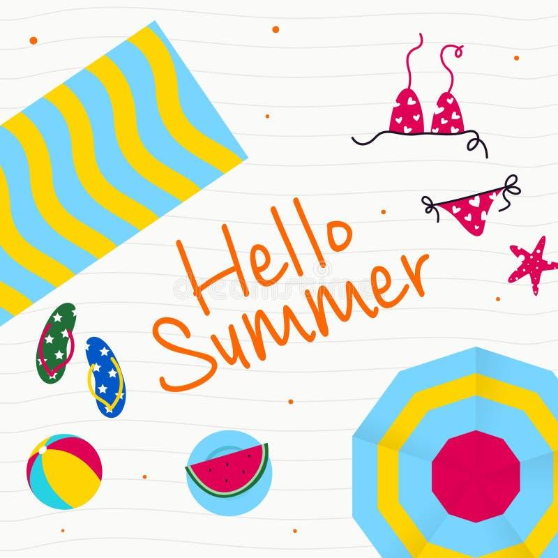 Счастливый летний отпуск в иллюстрации пляжа Тропический праздник в иллюстрации лета бесплатная иллюстрация