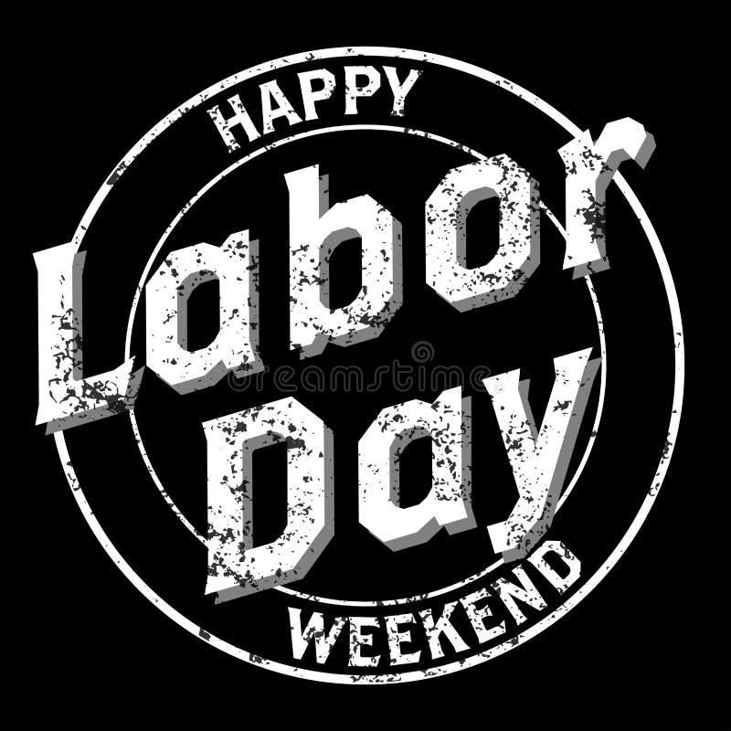 Счастливый ЛОГОТИП Grunge Дня Трудаа бесплатная иллюстрация