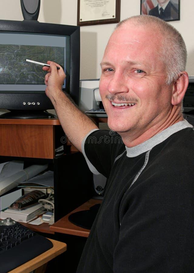счастливый метеоролог стоковые фото