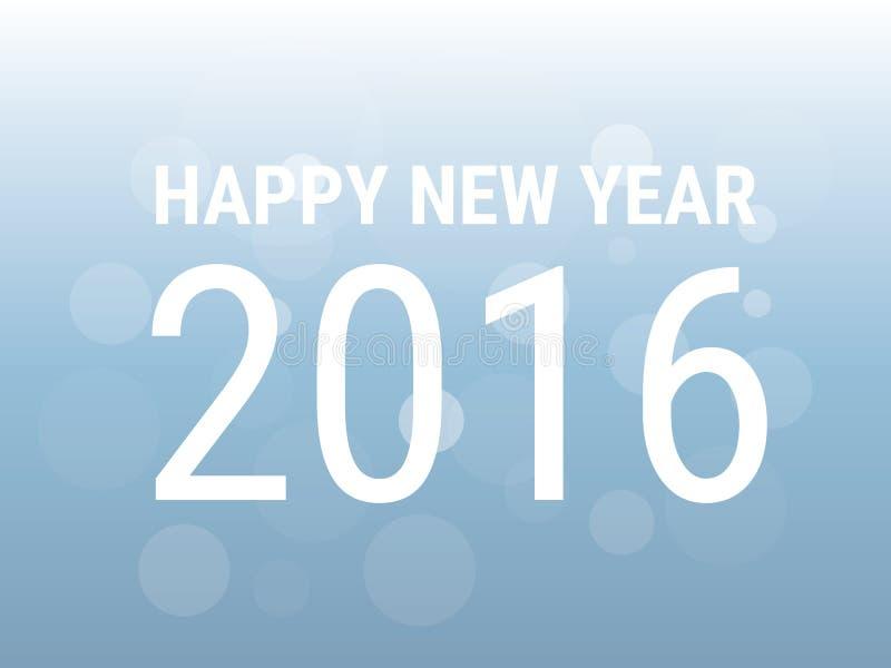 Счастливый новый 2016 год, стиль дизайна illustion вектора плоский иллюстрация вектора