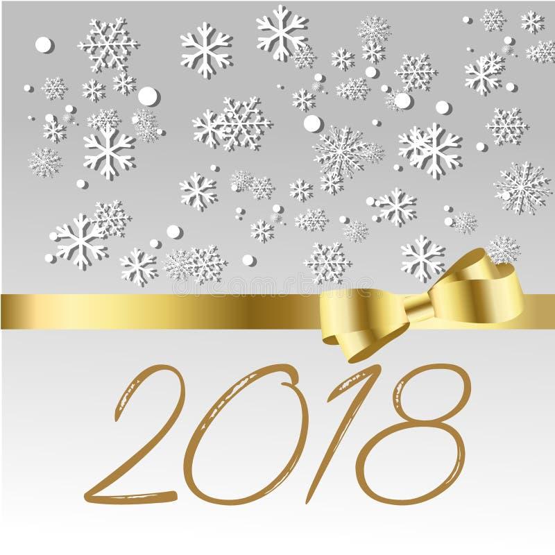 Счастливый Новый Год 2018, иллюстрация вектора