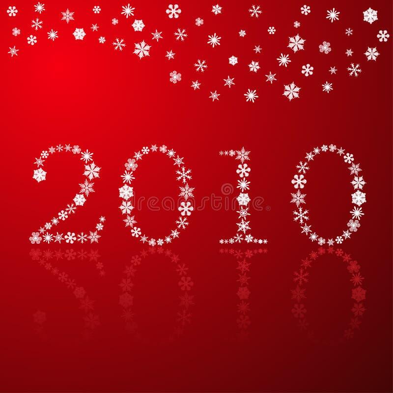 счастливый новый красный год снежинок иллюстрация вектора