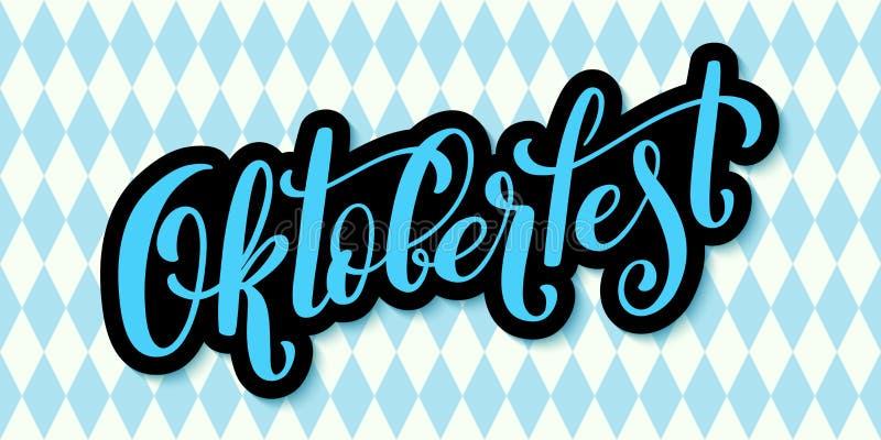 Счастливый плакат Oktoberfest Значок значка украшения фестиваля пива иллюстрация вектора