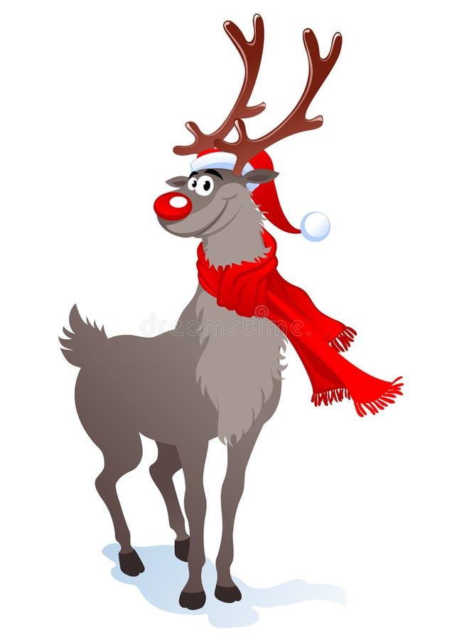 счастливый северный олень иллюстрация штока