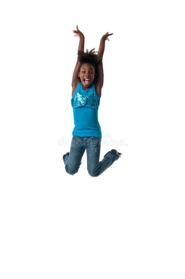 счастливый скакать стоковая фотография
