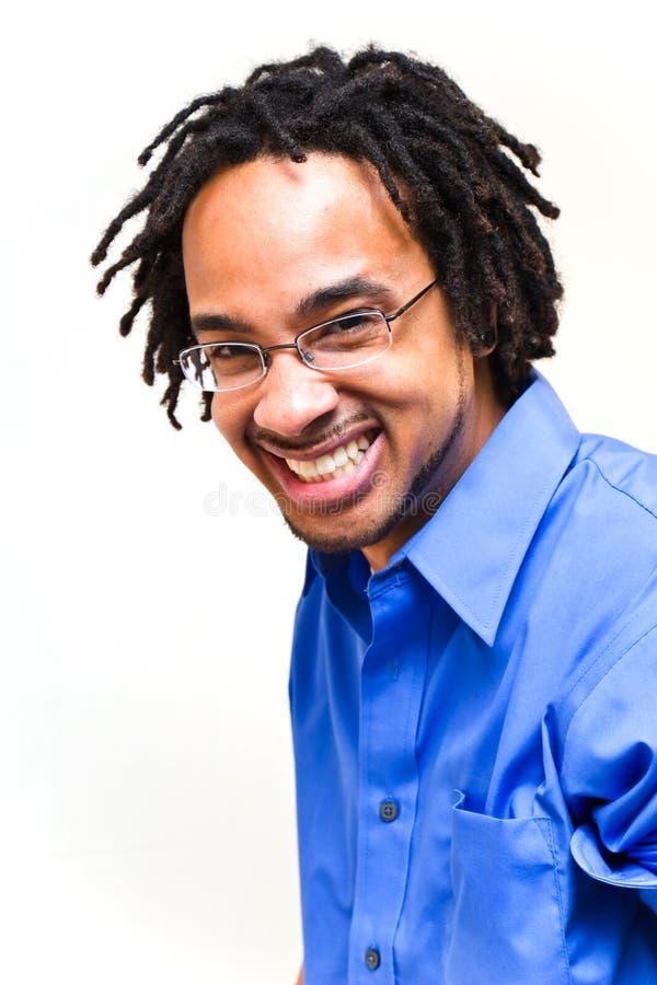 счастливый смеясь над человек стоковое фото rf