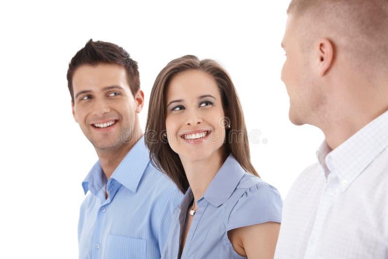 Счастливый смеяться над предпринимателей стоковое изображение rf