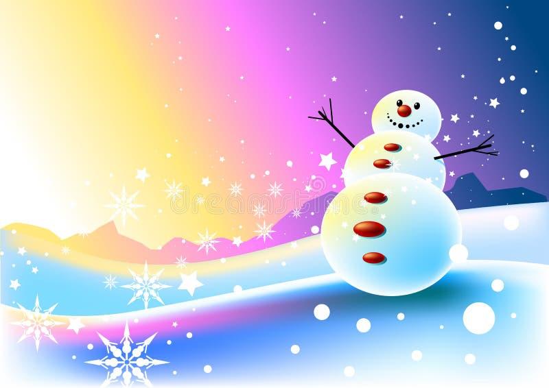 счастливый снеговик места бесплатная иллюстрация