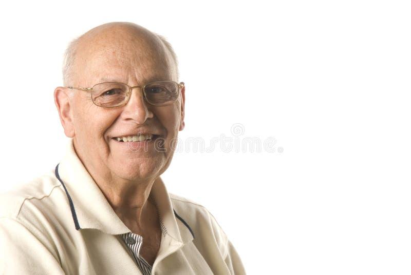 счастливый старший человека стоковое изображение rf
