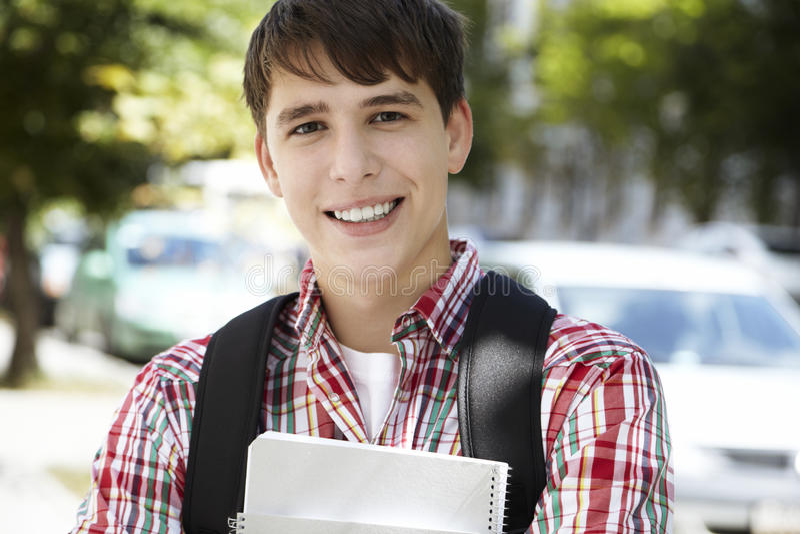 счастливый студент стоковое изображение