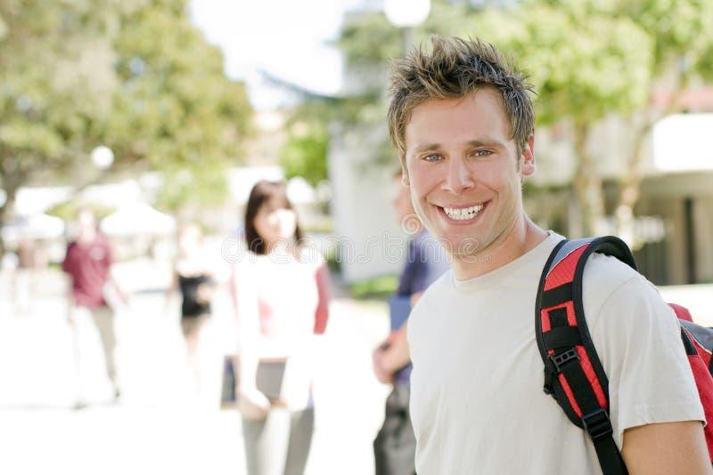 счастливый студент стоковое изображение rf