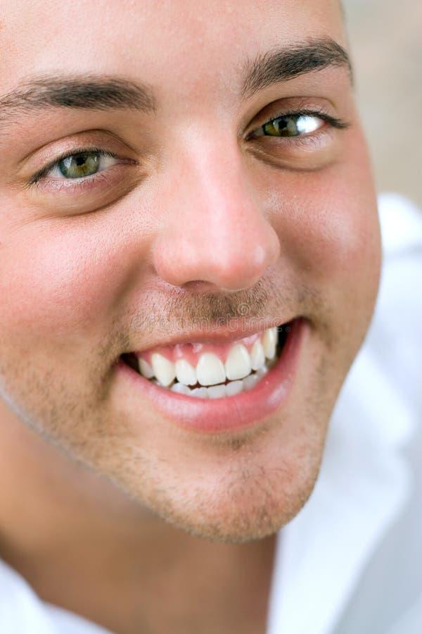 счастливый усмехаться человека стоковые фотографии rf