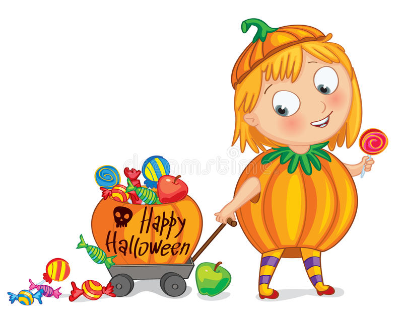 Счастливый хеллоуин иллюстрация штока