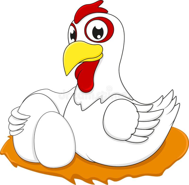 Счастливый цыпленок бесплатная иллюстрация