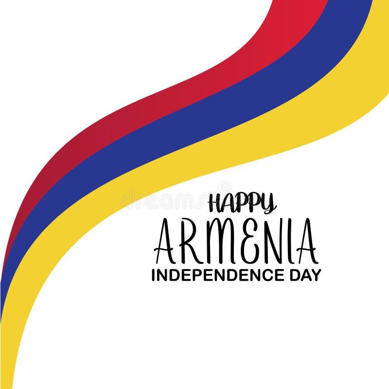 Счастливый шаблон вектора Дня независимости Армении Дизайн для знамени, поздравительных открыток или печати Национальный праздник бесплатная иллюстрация