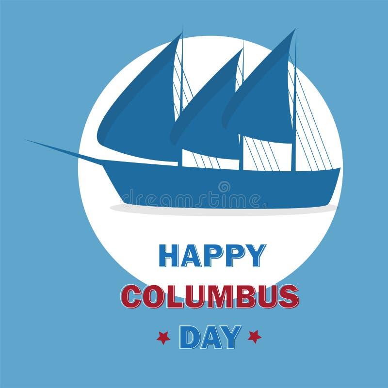 Счастливый шаблон дизайна дня columbus Иллюстрация вектора для поздравительных открыток иллюстрация штока