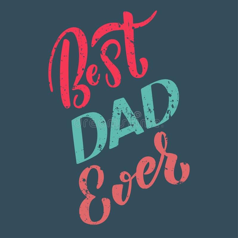 Счастливый шаблон поздравительной открытки дня отцов иллюстрация вектора