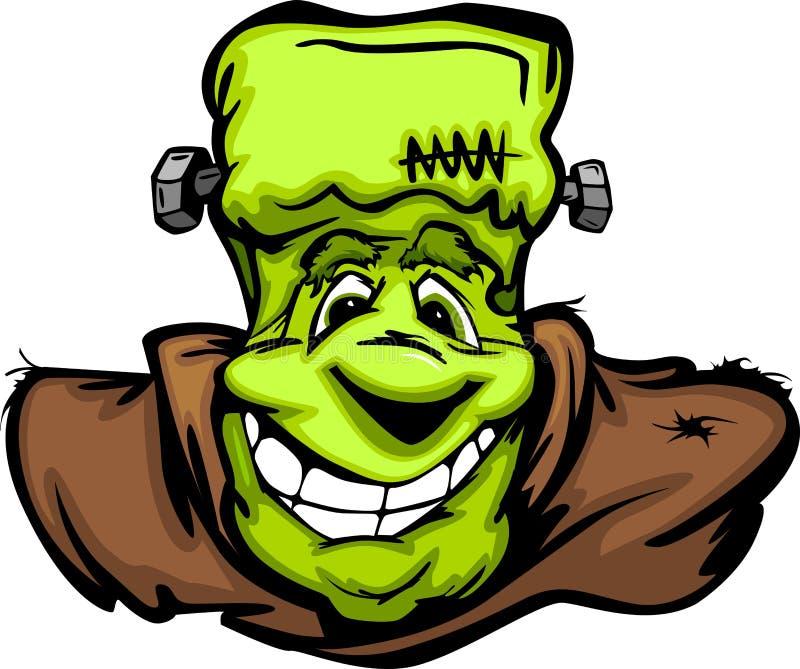 Счастливый шарж головки изверга Frankenstein Halloween бесплатная иллюстрация