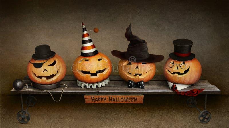 Счастливый Halloween иллюстрация штока