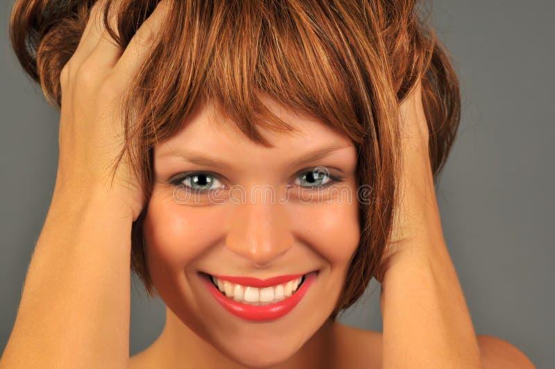 счастливый redhead стоковые фотографии rf