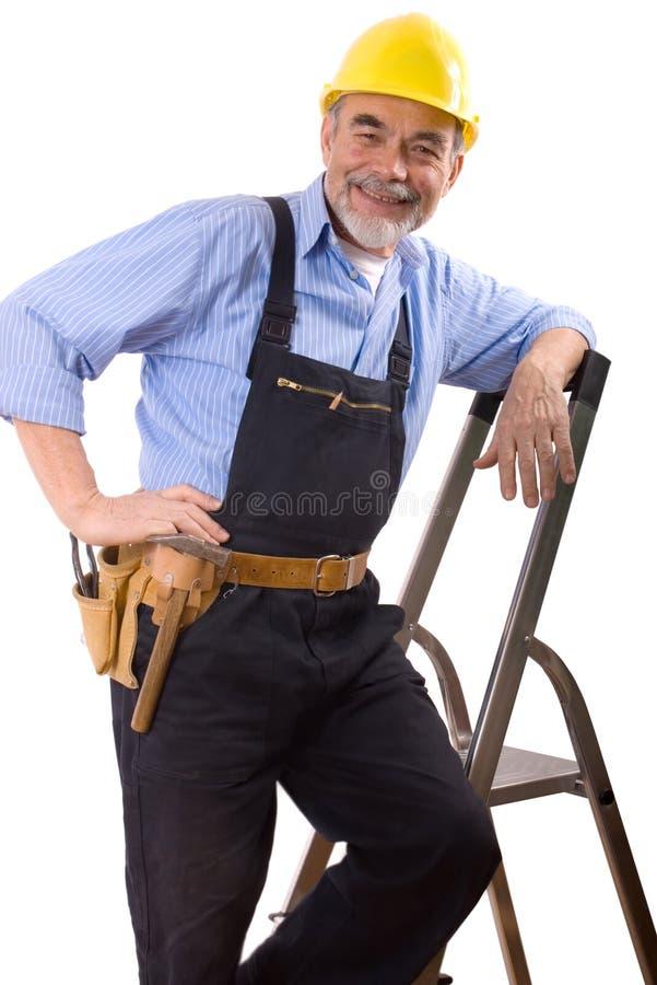 счастливый repairman стоковая фотография rf