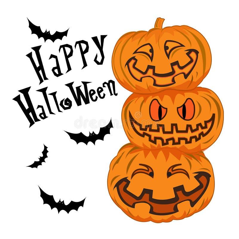 Счастливым иллюстрация хеллоуина изолированная вектором стоковое фото rf