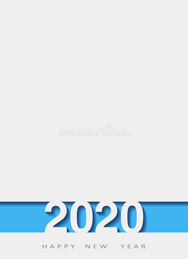 2020 счастливых Новых Годов, год крысы, дизайн 3d, иллюстрация, наслоил реалистический, для знамен, летчиков плакатов бесплатная иллюстрация