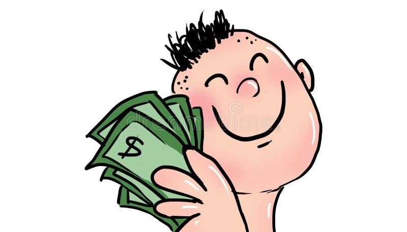 Счастье денег, иллюстрации иллюстрация штока