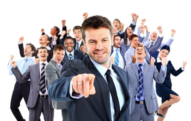 Счастливая бизнес-группа стоковое изображение