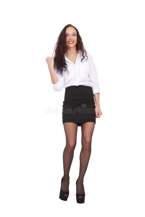 Счастливая бизнес-леди стоковое изображение