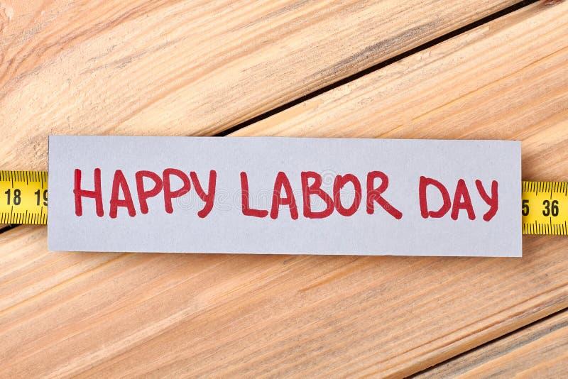 Счастливая бумага приветствию Дня труда стоковое фото rf